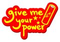 Give power your power message creative design of me Stock Photography