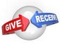 Dar y obtener apoyar ayudar otro