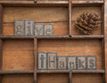 Give Thanks With Pine Cone - C...