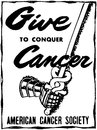 Give to conquer cancer Royalty Free Stock Images
