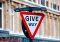 Give way Sign Stock Images