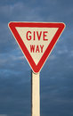 Give Way Sign Stock Photos