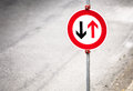 Give way sign Stock Photography