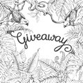 Giveaway Banner with Tropical Birds