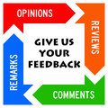 Giving feedback reviews and comments Royalty Free Stock Photography