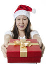 Giving gift box Stock Photos