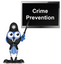 Giving talk on crime prevention Royalty Free Stock Photos