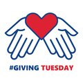 Giving Tuesday. Helping hand with heart shape Royalty Free Stock Photo