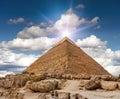 Image : Giza pyramid panoramic  plateau