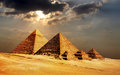 Giza pyramids cairo egypt photo of Stock Photography