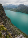 Gjende lake, Jotunheimen NP, Norway Stock Photos