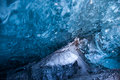 Glacial Blue Ice Stock Photography