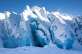 Glacial Blue Ice Stock Photo