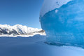 Glacial Blue Ice Royalty Free Stock Image