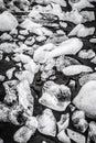 Glacial ice on the beach at jokulsarlon iceland Stock Photos