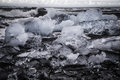 Glacial ice on the beach at jokulsarlon iceland Stock Photography