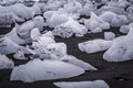 Glacial ice on the beach at jokulsarlon iceland Stock Images
