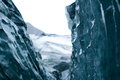 Glacial ice blue cave iceland Stock Images