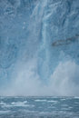 Glacial ice crash close up of crashing on the water Stock Photo
