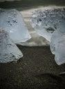 Glacial ice at jokulsarlon iceland Royalty Free Stock Images