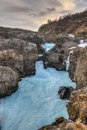 Glacial River Pool, Barnafoss, Iceland Royalty Free Stock Photo