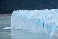 Glaciar ice coming in water Royalty Free Stock Photo
