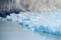 Glaciar iceberg coming in water Royalty Free Stock Photo