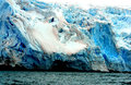 Glacier antarctica large blue by sea Royalty Free Stock Photos