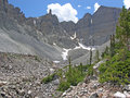 Glacier below Wheeler Peak in the Great Basin National Park, Nevada. Stock Photo