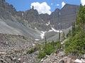 Glacier below Wheeler Peak in the Great Basin National Park, Nevada. Royalty Free Stock Photo