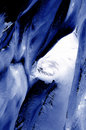 Glacier crevasse Stock Photos