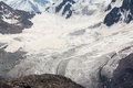 Glacier en tien shan mountains Image stock