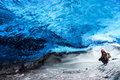 Glacier ice cave of Iceland Royalty Free Stock Photo
