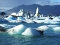 Glacier in Iceland Stock Photo