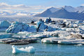 Glacier lagoon in east iceland Royalty Free Stock Photos