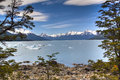 Glacier lake in El Calafate, Argentina Royalty Free Stock Photography