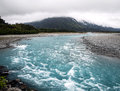 Glacier melt water on the west coast of nz Stock Photography