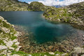 Glacier mountain lake in Brenta Dolomites. Royalty Free Stock Photo