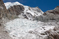 Glacier in the mountains himalayas nepal dangerous Royalty Free Stock Photo