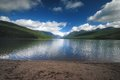 Glacier national park in montana bowman lake Royalty Free Stock Photography