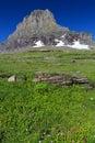 Glacier National Park Mount Clemons Royalty Free Stock Photo