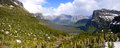 Glacier national park panorama Royalty Free Stock Photography