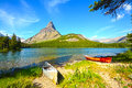 Glacier National Park, Swiftcurrent Lake Royalty Free Stock Photo