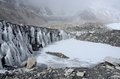 Glacier near everest base camp nepal famous place among trekkers in Royalty Free Stock Images