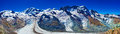 Glacier panorama high alps mountains Royalty Free Stock Photos
