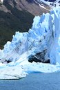 Glacier part infront mountain water lake patagonia south america Stock Images