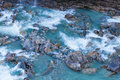 Glacier river with turquoise water Royalty Free Stock Photography