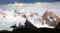Glaciers and mountains Fitz Roy, Cerro Torre