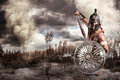 Gladiator in a battle Royalty Free Stock Photo