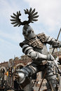 Gladiator with spear at arena verona model outside the in italy Stock Image